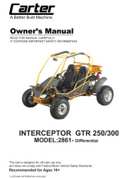 Carter_Brothers_Interceptor_GTR_250_Differential_User_Parts_Manual carter brothers go kart owner's manual parts manual  at mifinder.co