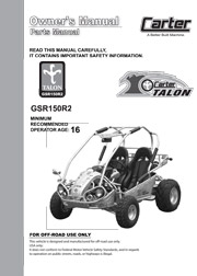 Carter_Brothers_Talon_GSR_150_Parts_User_Manual