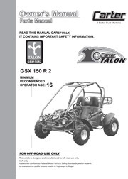 Carter_Brothers_Talon_GSX_150_Parts_User_Manual